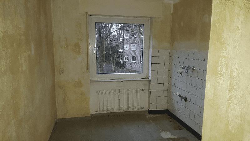 küche nach Entrümpelung