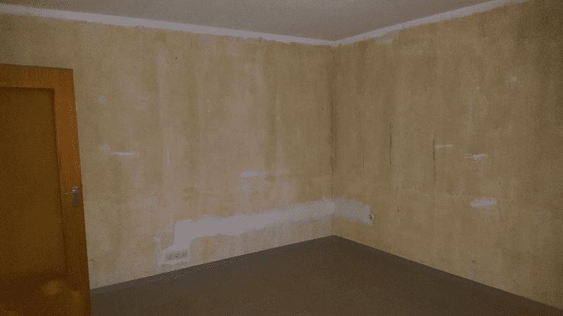 Wohnzimmer nach Entrümpelung
