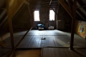 Fertige Entrümpelung eines Dachboden