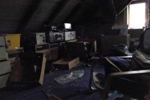 Bei einer Entrümpelung eines Dachboden